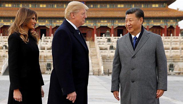 Трамп прибыл спервым официальным визитом в КНР