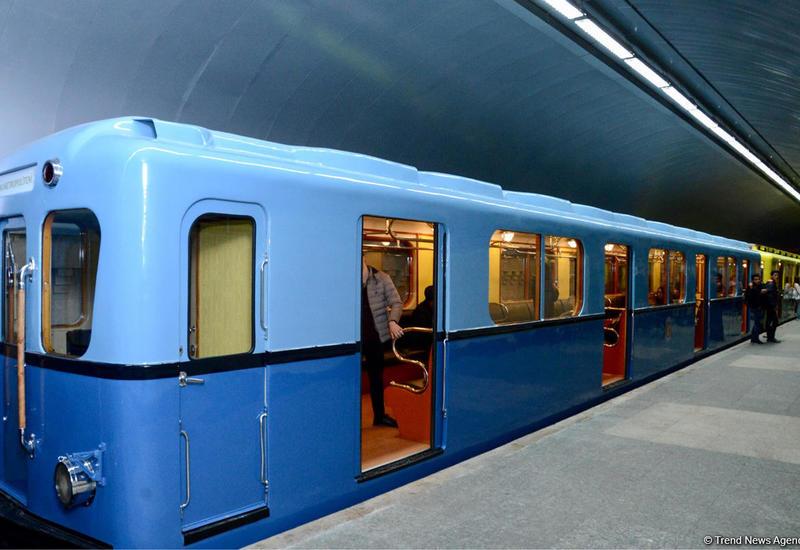 Ретро-вагоны в бакинском метро