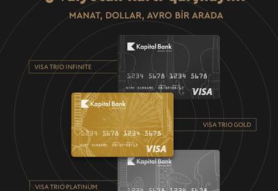 Visa Trio – манат, доллар и евро в единой карте