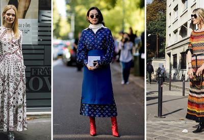 """С чем носить длинные юбки и платья зимой - 20 идей от звезд стритстайла <span class=""""color_red"""">- ФОТО</span>"""