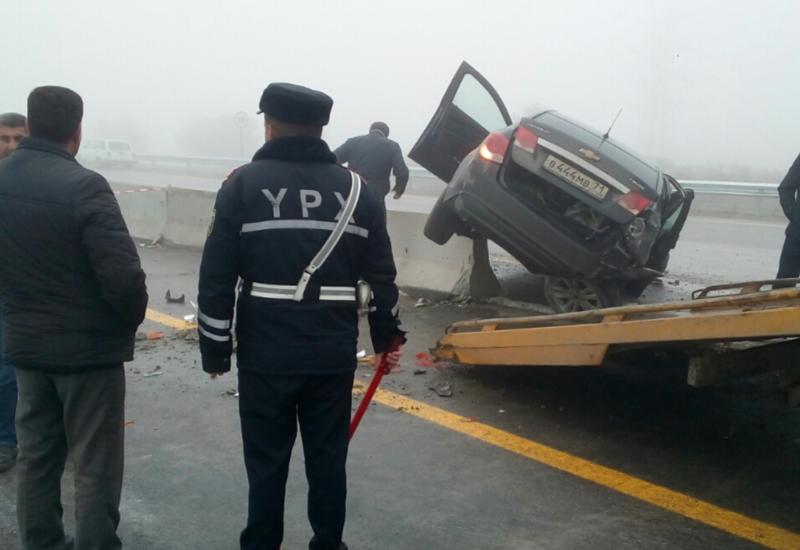 Тяжелая авария в Гобустане: есть пострадавшие
