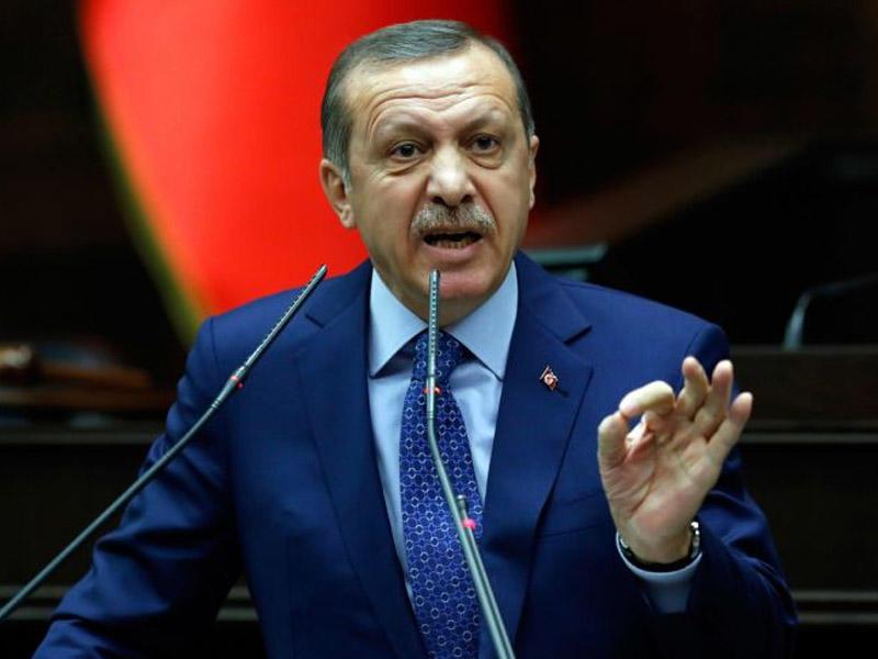 Эрдоган поблагодарил В.Путина заподдержку резолюции поИерусалиму
