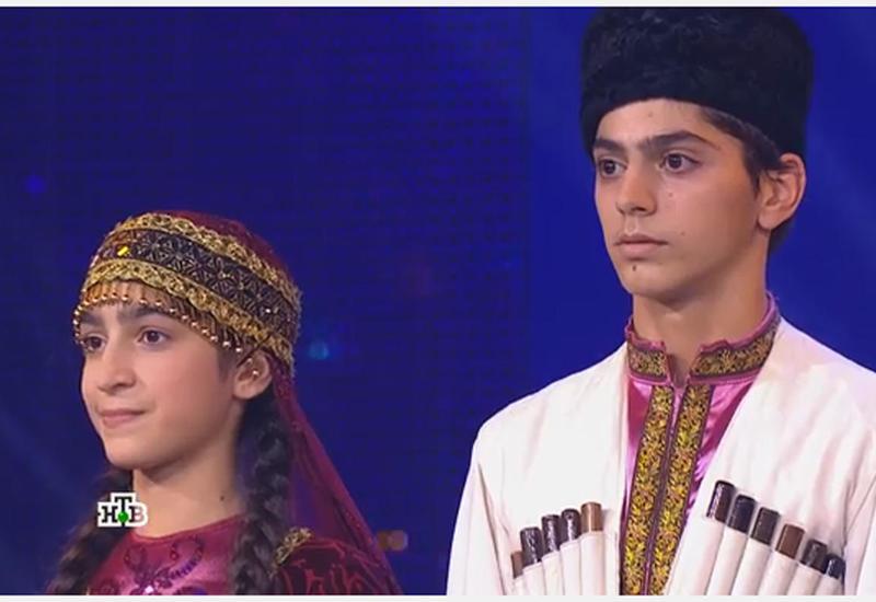 Азербайджанский национальный танец на российском телеканале