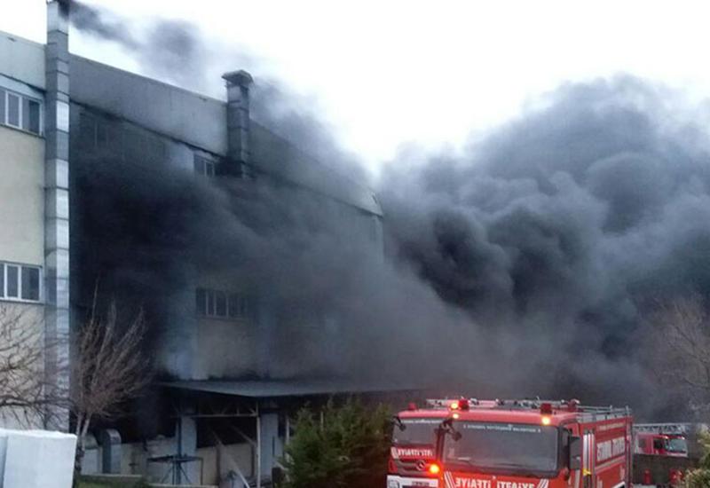 Сильный взрыв в Дашкесане,