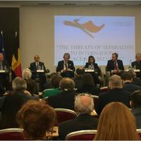 Али Гасанов поднял вопрос карабахского конфликта и международного сепаратизма в Брюсселе