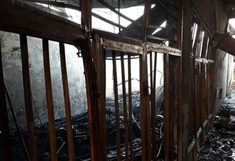 Пожар на АЗС в Лянкяране, есть раненые