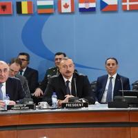 """Президент Ильхам Алиев принял участие в заседании Северо-Атлантического Совета НАТО в Брюсселе <span class=""""color_red"""">- ФОТО</span>"""