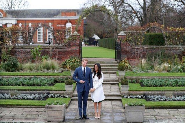 Принц Гарри и Меган Маркл впервые появились на публике после помолвки