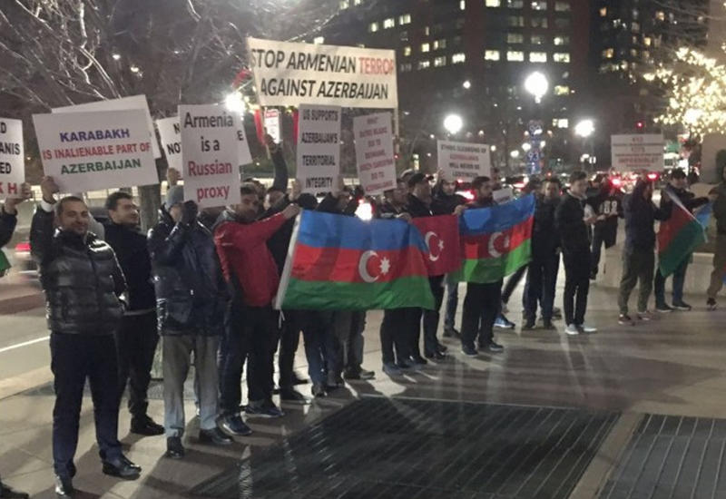 В Бостоне прошла акция протеста азербайджанской общины