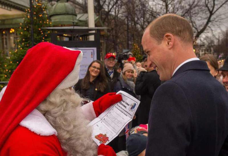Принц Уильям передал Санта-Клаусу письмо принца Джорджа