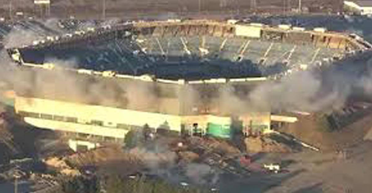 ВСША стадион под снос устоял после серии взрывов