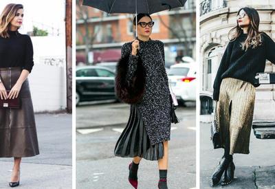 """Как носить юбку зимой - Модные примеры <span class=""""color_red"""">- ФОТО</span>"""