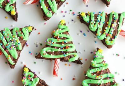 Шоколадные брауни-ёлочки - Пошаговый рецепт