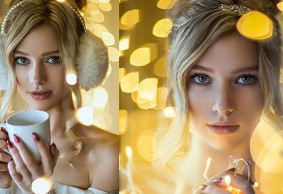 Фотограф показала, как сделать сказочные портретные снимки при помощи новогодней гирлянды в домашних условиях