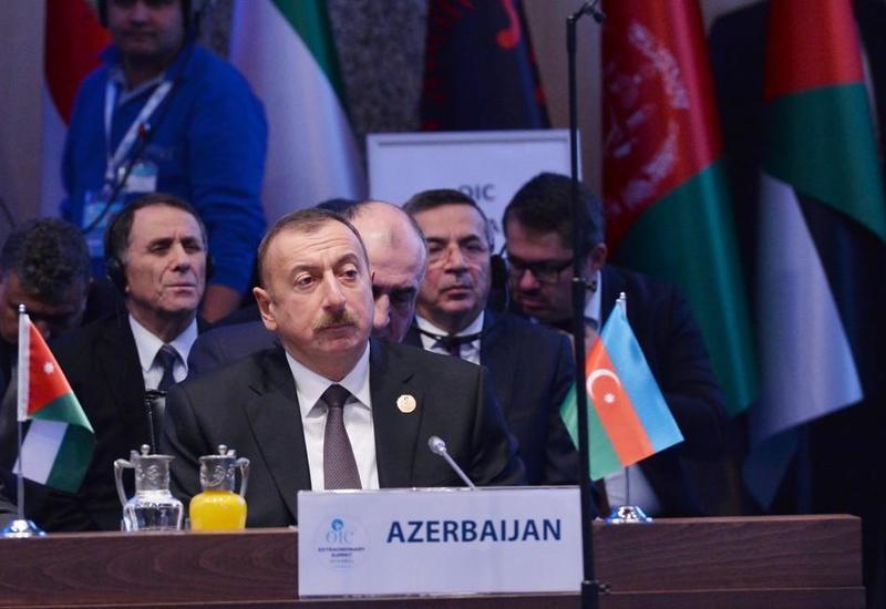 Президент Ильхам Алиев: Азербайджан последовательно поддерживает мирное урегулирование палестино-израильского конфликта