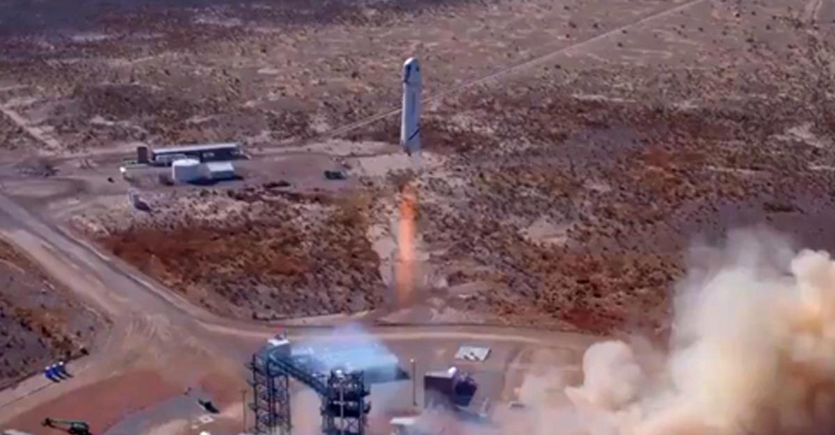 Blue Origin Безоса провела тестирования космического корабля New Shepard