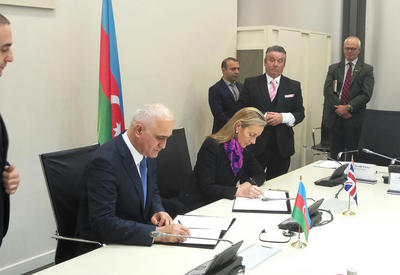 "Азербайджан и Великобритания подписали протокол межправкомиссии <span class=""color_red"">- ФОТО</span>"