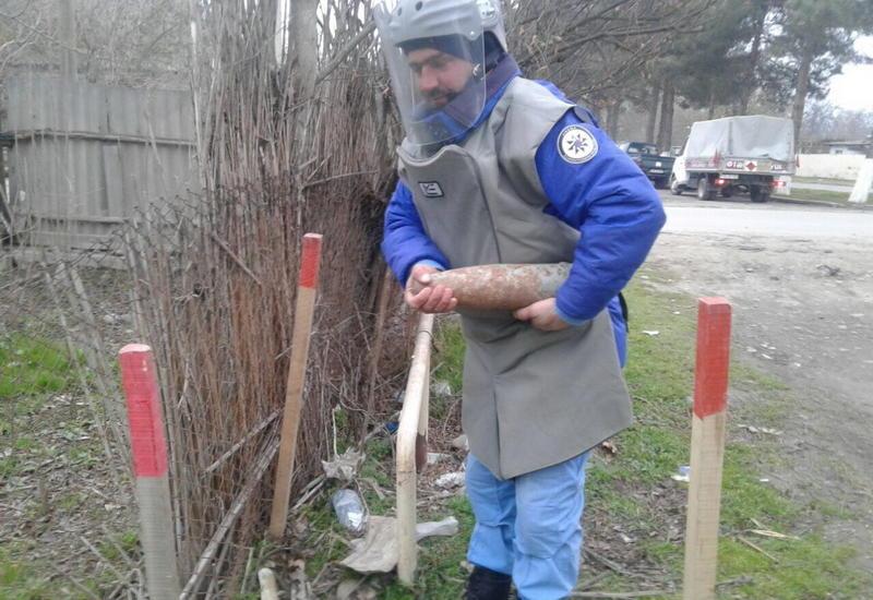 В Бейлагане обнаружен пушечный снаряд
