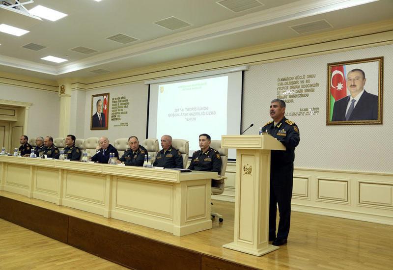 Закир Гасанов дал поручения по стоящим перед армией в 2018 году задачам