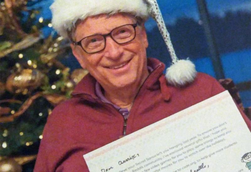 Билл Гейтс стал «секретным Сантой» для незнакомой девушки