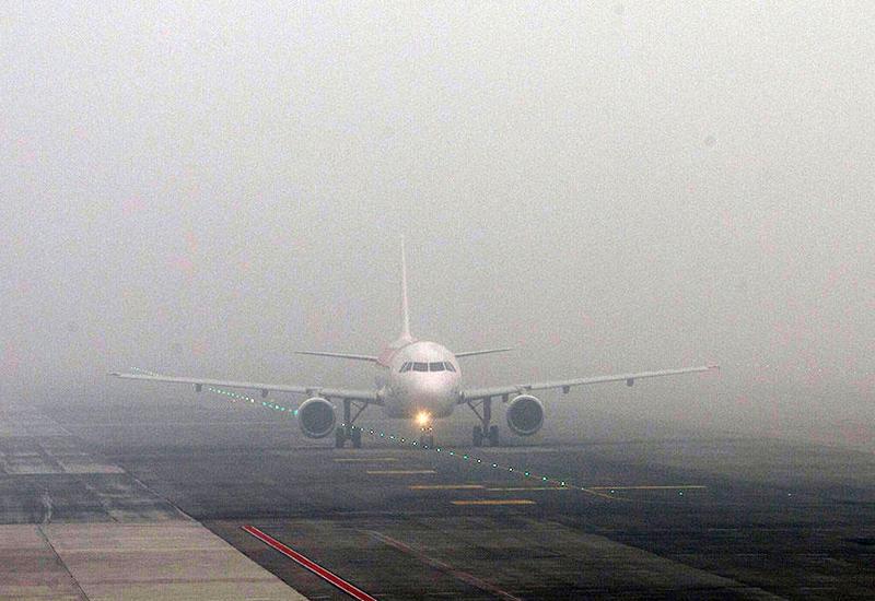 Duman Dubay hava limanının işini iflic etdi
