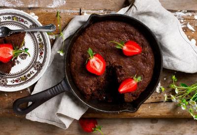 Брауни на сковороде - Пошаговый рецепт