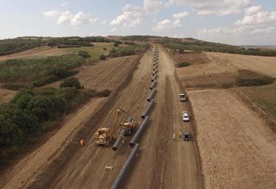 В рамках строительства TAP проложено свыше 630 км труб