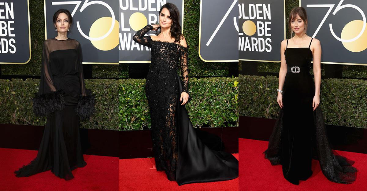 Голливудские звезды нанаграждении «Золотым глобусом» предстали с роскошными декольте