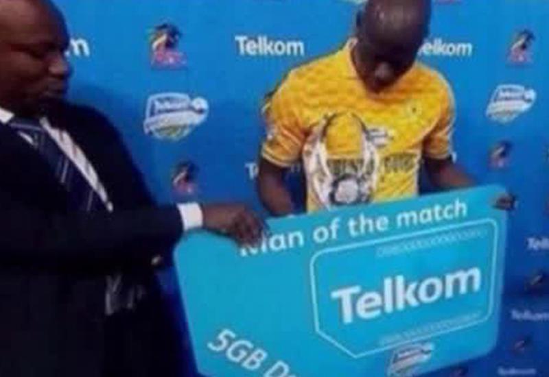 Лучший игрок матча чемпионата ЮАР получил в подарок 5 гб мобильного Интернета
