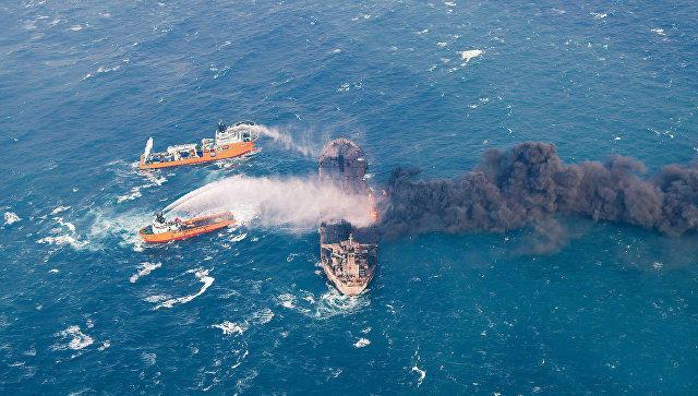 Найдены  тела еще  2-х  погибших моряков сгорящего иранского танкера