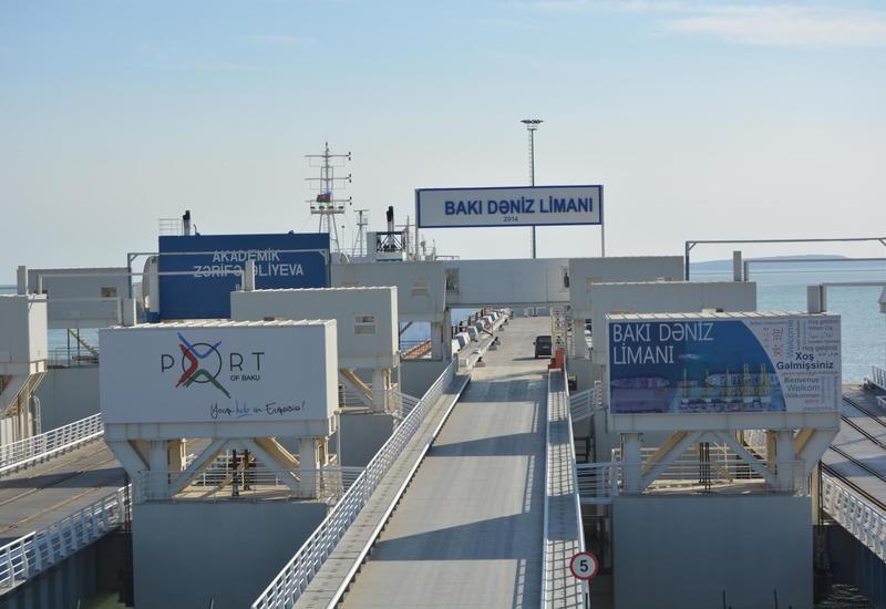 Объем грузоперевозок через Бакинский порт значительно вырос