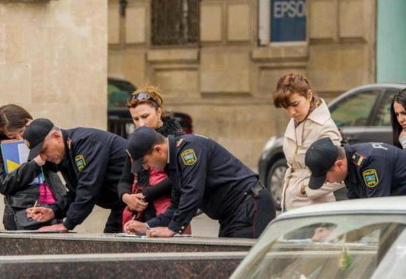 В Баку оштрафованы десятки тысяч пешеходов