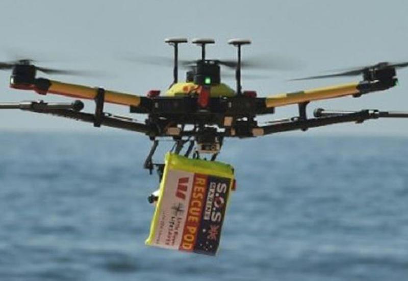 Дрон впервые в мире спас утопающих