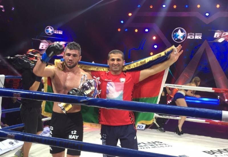 Азербайджанский кикбоксер одержал победу на международном турнире