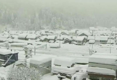 Сильные снегопады в Японии, пострадали десятки человек