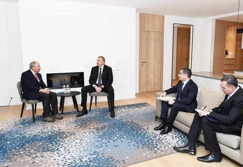 """Президент Ильхам Алиев встретился в Давосе с исполнительным директором американской компании Blackstone <span class=""""color_red"""">- ФОТО</span>"""