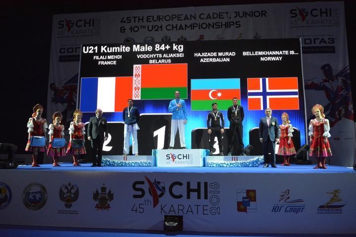 Karateçilərimiz Soçidə keçirilən Avropa çempionatında tarixi nəticə göstəriblər - FOTOLAR