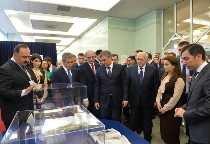 При поддержке Фонда Гейдара Алиева в Госдуме открылась выставка в связи с 25-летием установления дипотношений между Азербайджаном и Россией