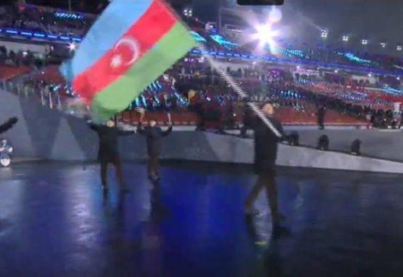Патрик Брахнер пронес флаг Азербайджана на открытии Олимпийских игр в Пхенчхане