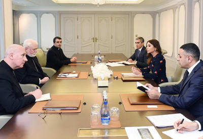 """Первый вице-президент Мехрибан Алиева: Толерантность, атмосфера терпимости и спокойствие - одно из самых больших достояний Азербайджана, а также важный месседж нестабильному миру <span class=""""color_red"""">- ФОТО</span>"""