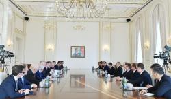 Президент Ильхам Алиев принял делегацию Восточного комитета экономики Германии - ФОТО