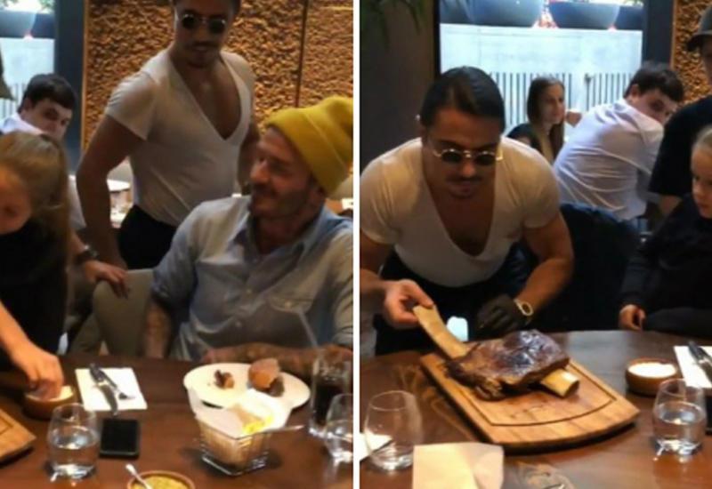 Дэвид Бекхэм посетил ресторан известного турецкого шеф-повара Нусрета Гьокче