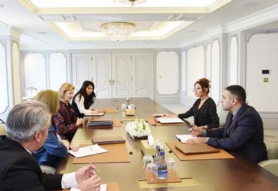 """Первый вице-президент Мехрибан Алиева встретилась с торговым посланником премьер-министра Великобритании <span class=""""color_red"""">- ФОТО</span>"""