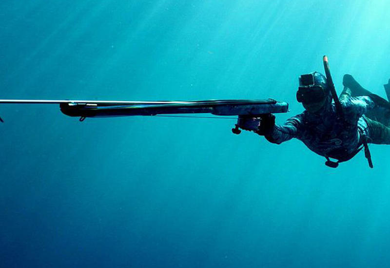 Турист случайно выстрелил себе в ногу во время подводной охоты