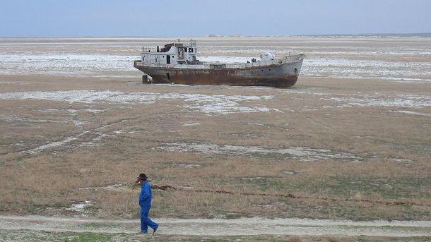 Российский космонавт показал фото катастрофически высохшего Аральского моря
