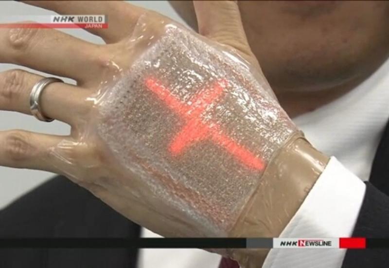 В Японии изобрели дисплей-пластырь