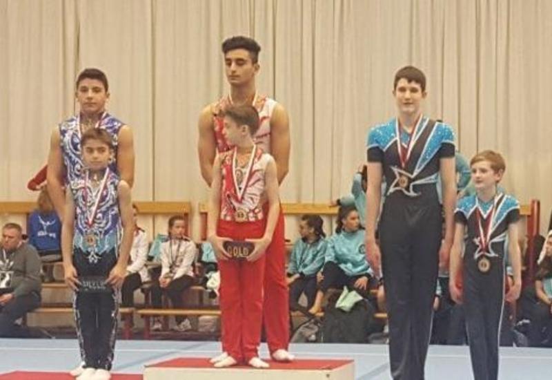 Азербайджанские гимнасты завоевали золотую медаль в Бельгии