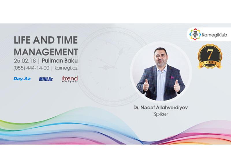 KarnegiKlub отметит в Баку 7-летие тренингом Life & Time management