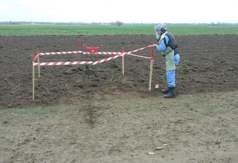 """В Тертерском районе обезврежена противотанковая мина <span class=""""color_red"""">- ФОТО</span>"""