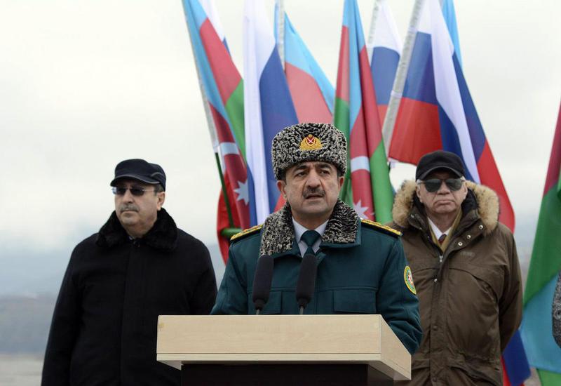 На границе Азербайджана и России установлен первый пограничный знак